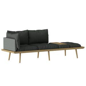 lounge around 3-personers sofa i eg med grå hynder fra umage