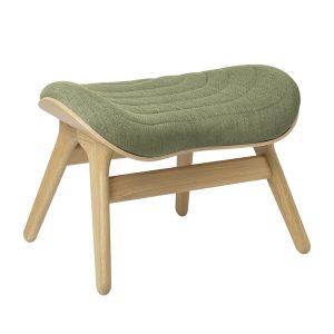 a conversation piece ottoman fodskammel i eg og spring green fra umage