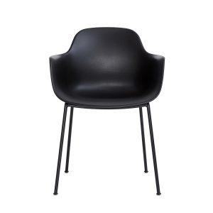 ac3 spisebordsstol med metalben og sæde i sort fra andersen furniture