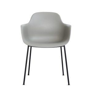 ac3 spisebordsstol med metalben og sæde i grå fra andersen furniture