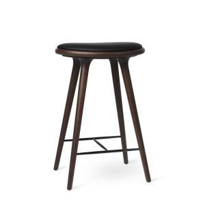 high stool barstol H69 i mørklakeret bøg fra mater