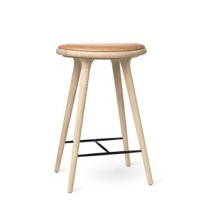 high stool barstol H69 i sæbebehandlet eg fra mater