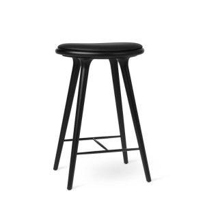 high stool barstol H69 i sortlakeret bøg fra mater