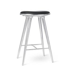 high stool barstol H74 i aluminium fra mater
