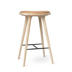 high stool barstol H74 i sæbebehandlet eg fra mater
