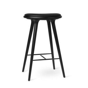 high stool barstol H74 i sortlakeret bøg fra mater