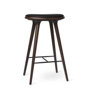high stool barstol H74 i mørklakeret bøg fra mater