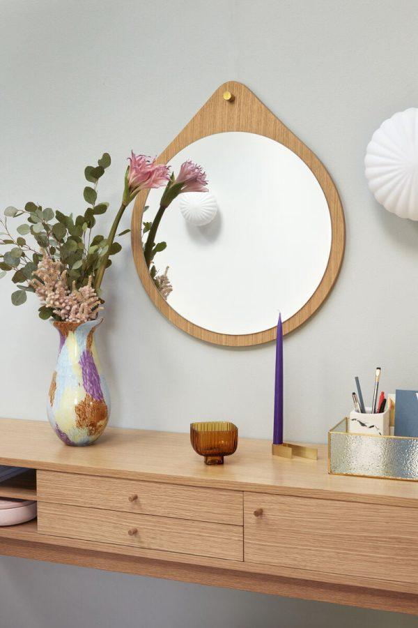 glasvase i multi coloured fra hübsch