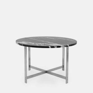 rundt jh spisebord i sort marmor fra klassik studio