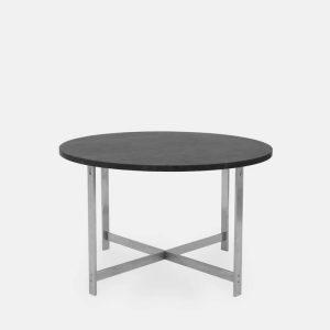 rundt jh spisebord i grå marmor fra klassik studio